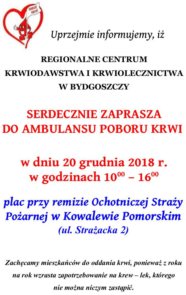 Plakat z ogłoszeniem