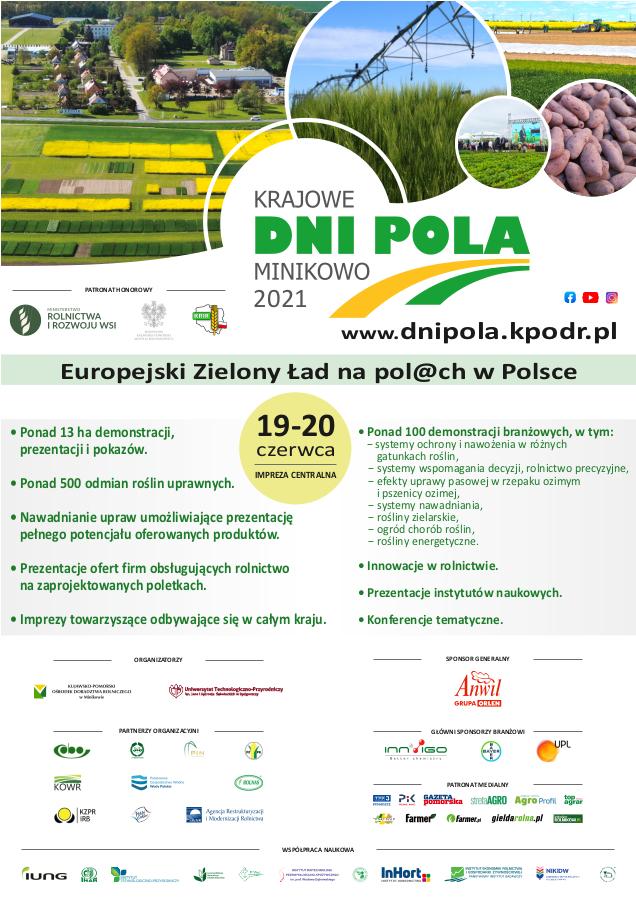 Krajowe Dni Pola Minikowo 2021 - plakat