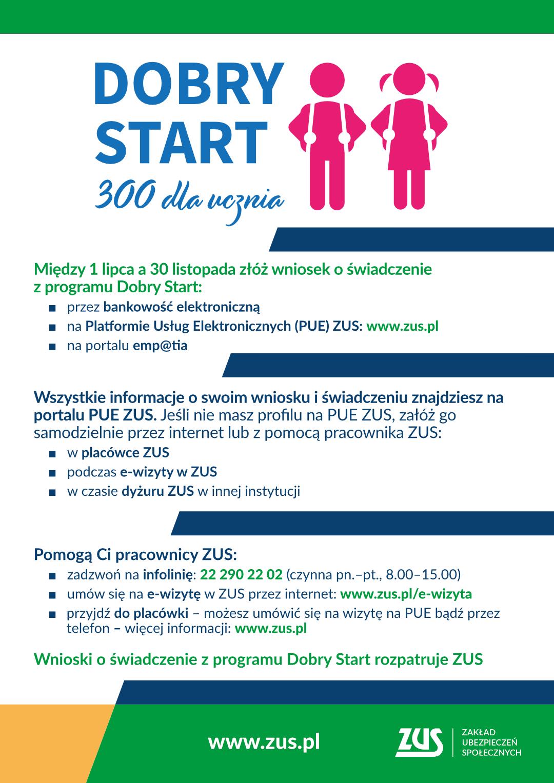 Dobry Start - infografika