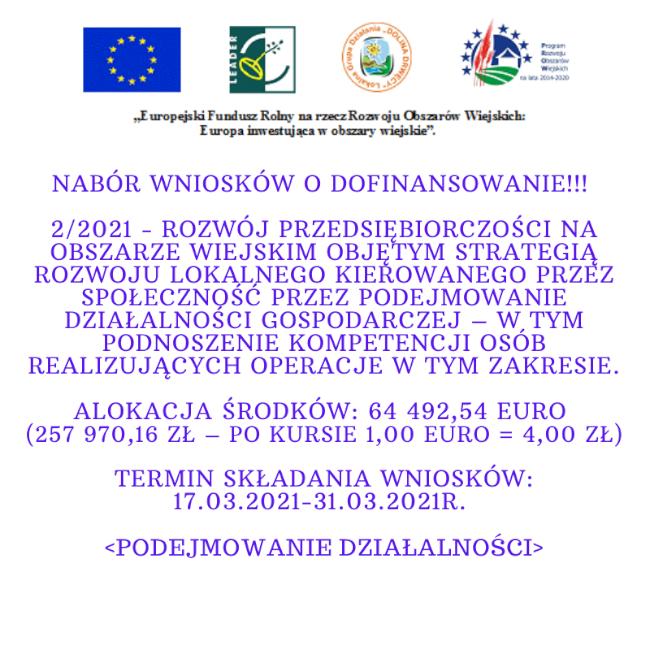 Nabór wniosków nr 2/2021