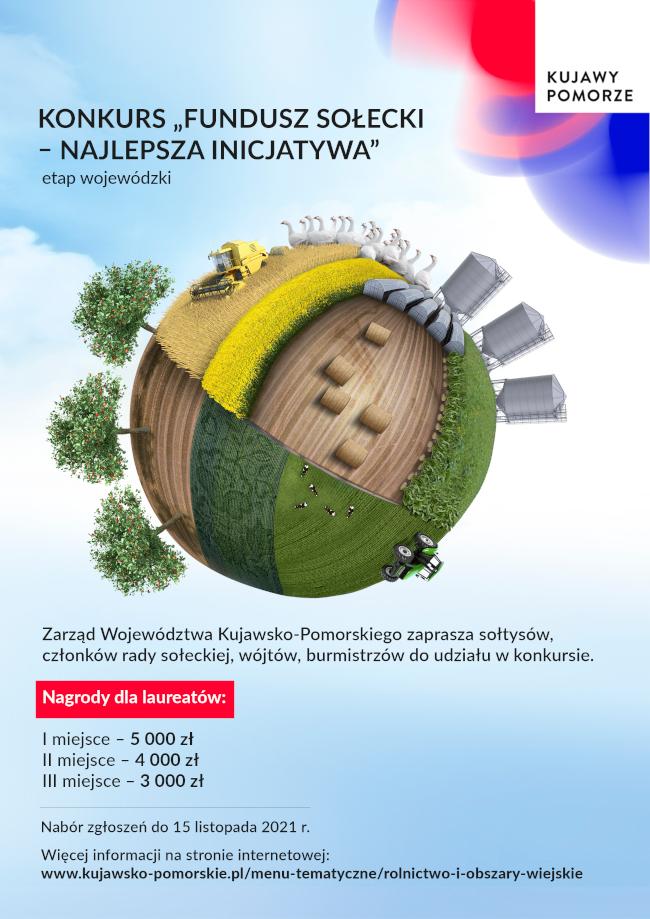 """Konkurs """"Fundusz sołecki – najlepsza inicjatywa"""" - etap wojewódzki - plakat informacyjny"""