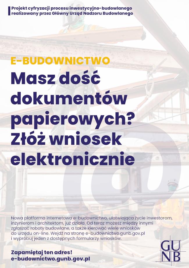 Projekt cyfryzacji procesu inwestycyjno-budowlanego realizowany przez Główny Urząd Nadzoru Budowlanego