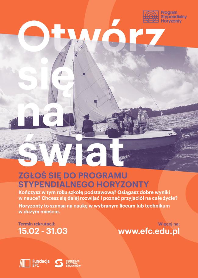 Program Stypendialny Horyzonty - plakat informacyjny