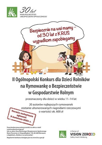 Plakat konkurs KRUS