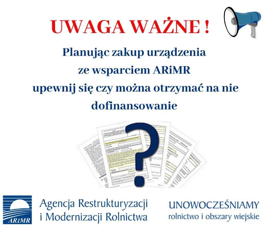 ARiMR - plakat - ostrzeżenie