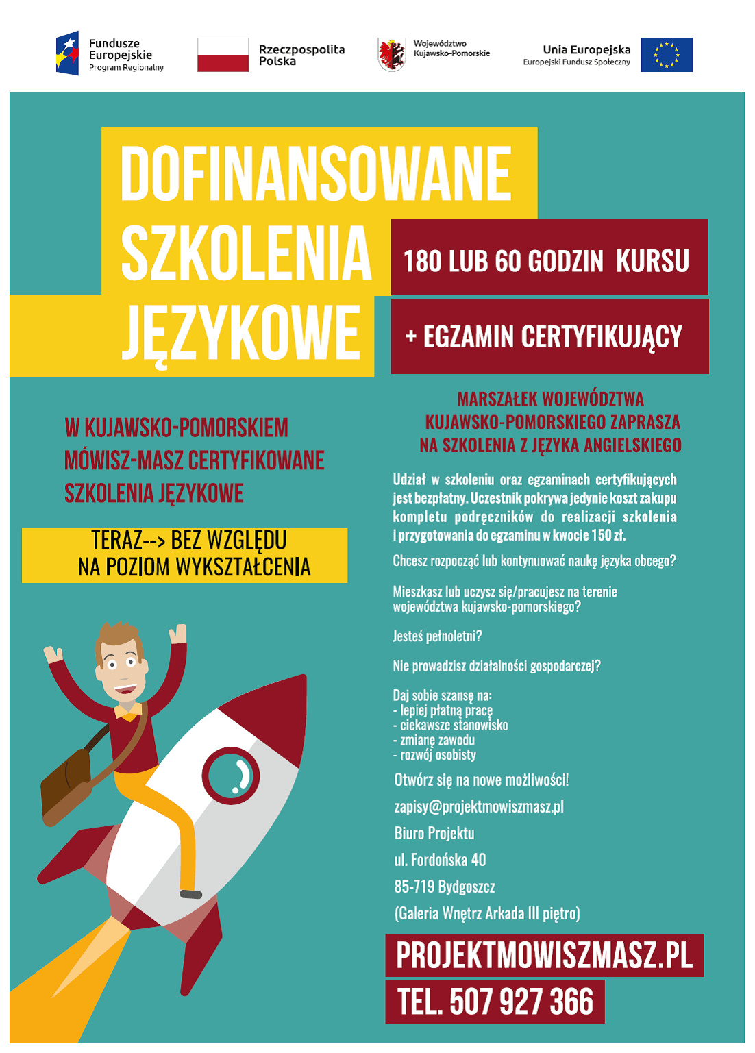 Plakat - szkolenia językowe