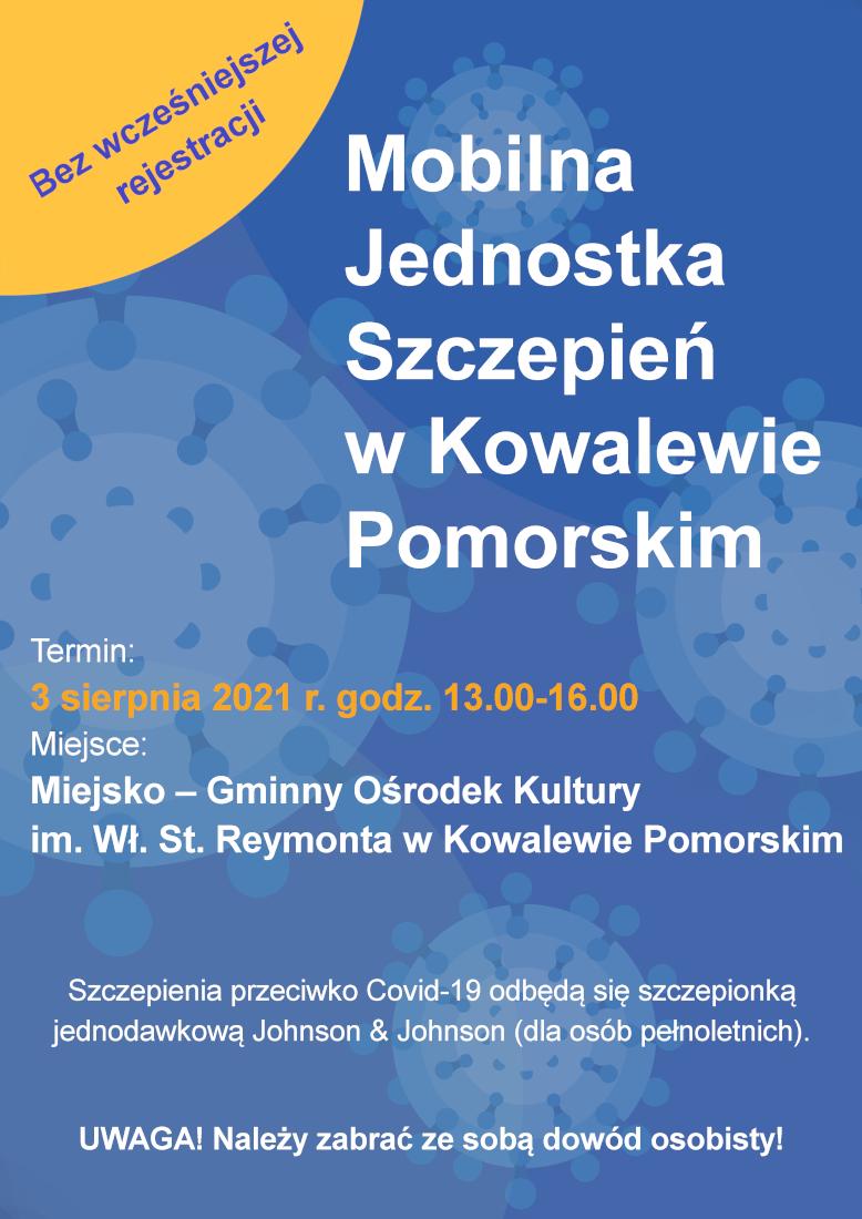 Powiększ zdjęcie Zaproszenie na szczepienie przeciwko COVID-19 - akcja jednodniowa