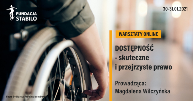 Warsztaty online - plakat informacyjny